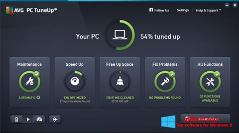Snimak zaslona AVG PC Tuneup Windows 8