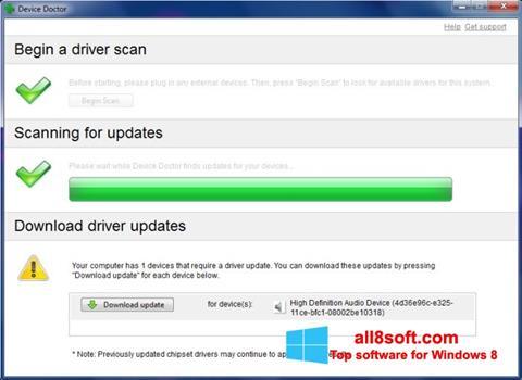 Snimak zaslona Device Doctor Windows 8