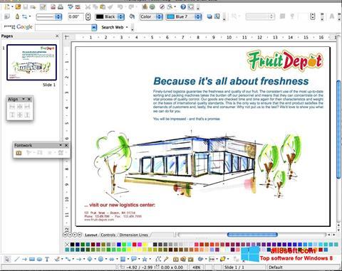 Snimak zaslona Apache OpenOffice Windows 8