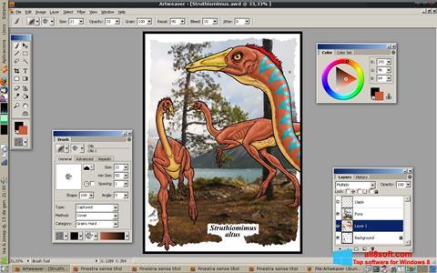 Snimak zaslona Artweaver Windows 8