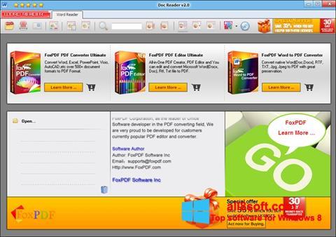 Snimak zaslona Doc Reader Windows 8