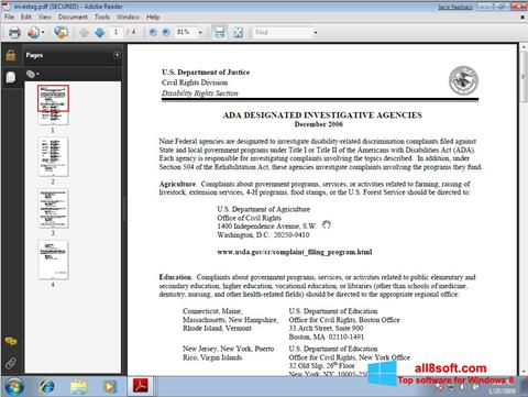 Snimak zaslona Adobe Reader Windows 8