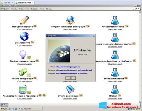 Snimak zaslona AllSubmitter Windows 8