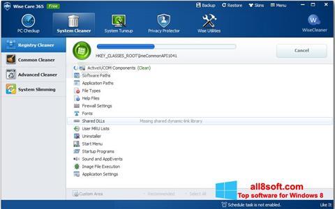 Snimak zaslona Wise Care 365 Windows 8