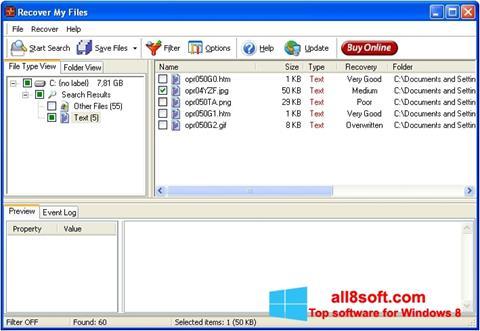 Snimak zaslona Recover My Files Windows 8