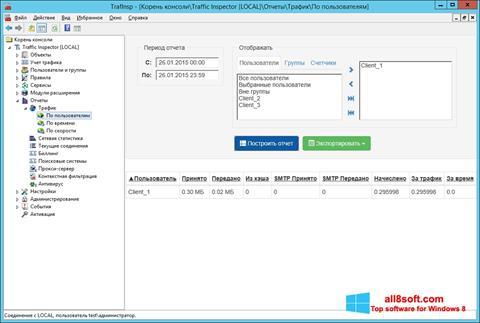 Snimak zaslona Traffic Inspector Windows 8