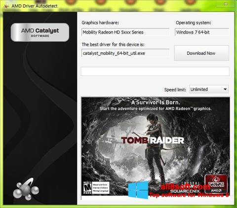 Snimak zaslona AMD Driver Autodetect Windows 8