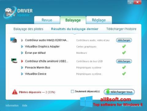 Snimak zaslona Carambis Driver Updater Windows 8