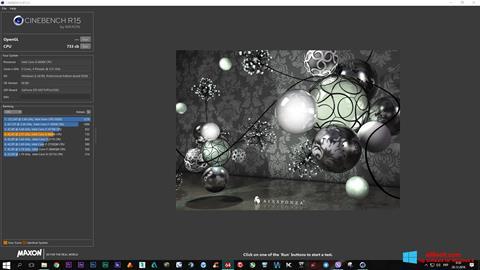 Snimak zaslona CINEBENCH Windows 8