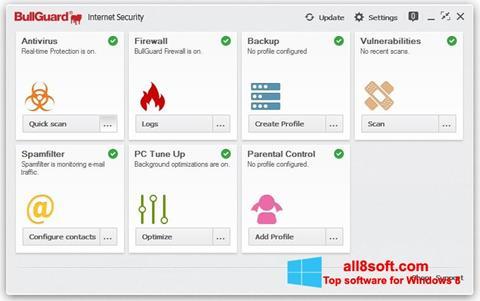 Snimak zaslona BullGuard Windows 8
