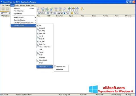Snimak zaslona CommView for WiFi Windows 8