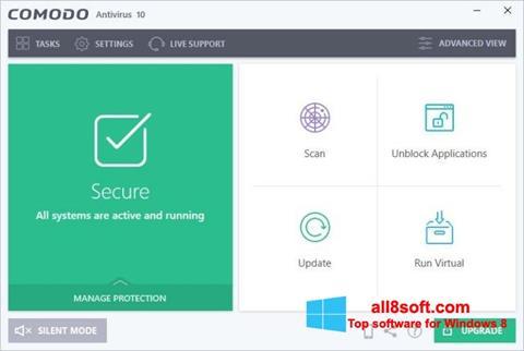Snimak zaslona Comodo Antivirus Windows 8