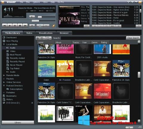Snimak zaslona Winamp Windows 8