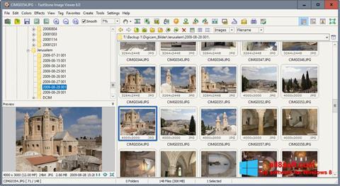 Snimak zaslona FastStone Image Viewer Windows 8