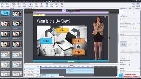 Snimak zaslona Adobe Captivate Windows 8