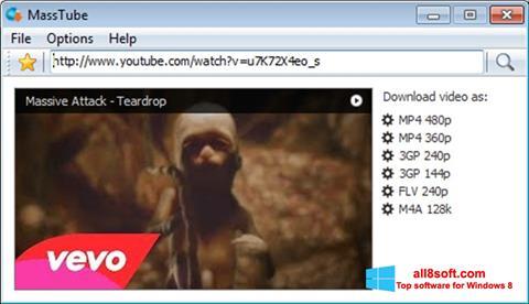 Snimak zaslona MassTube Windows 8