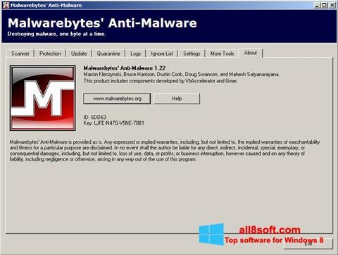 Snimak zaslona Malwarebytes Anti-Malware Free Windows 8