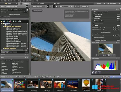 Snimak zaslona DxO Optics Pro Windows 8