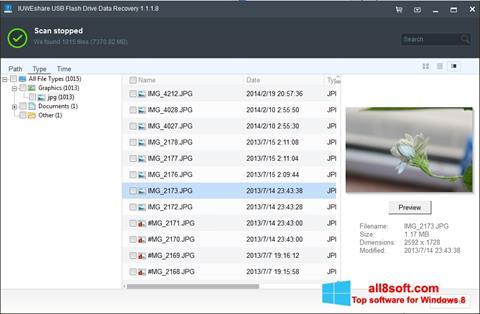 Snimak zaslona USB Flash Drive Recovery Windows 8