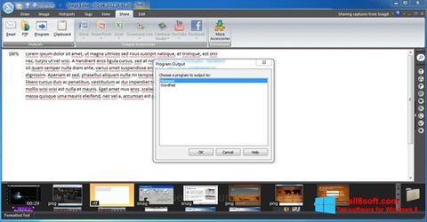 Snimak zaslona Snagit Windows 8