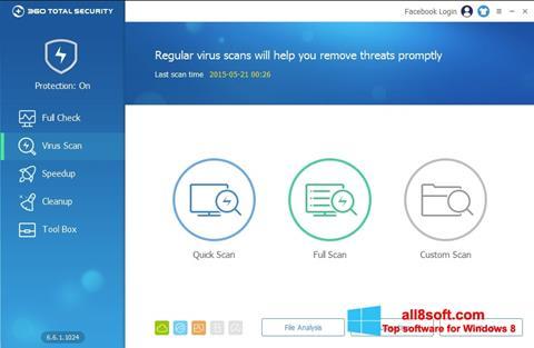 Snimak zaslona 360 Total Security Windows 8