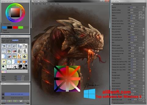 Snimak zaslona MyPaint Windows 8