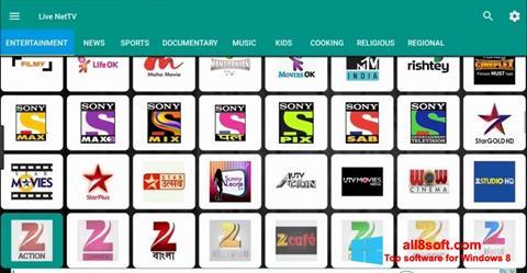 Snimak zaslona Net TV Windows 8