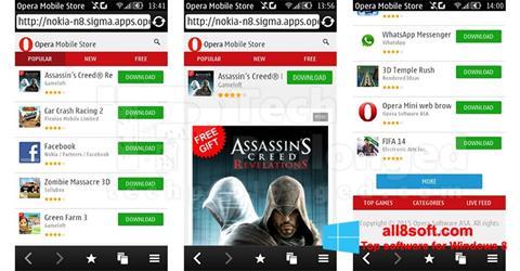 Snimak zaslona Opera Mobile Windows 8