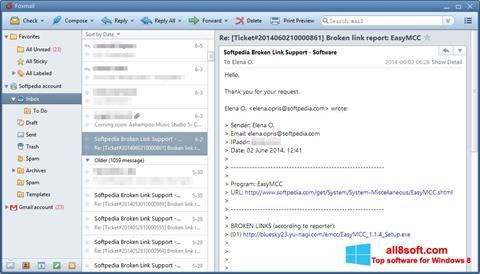 Snimak zaslona FoxMail Windows 8