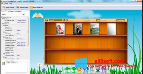 Snimak zaslona Bookshelf Windows 8