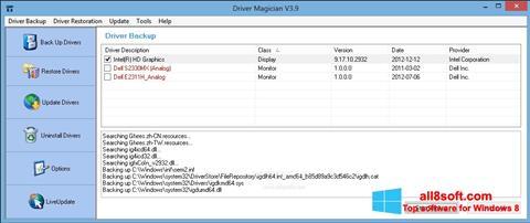 Snimak zaslona Driver Magician Windows 8