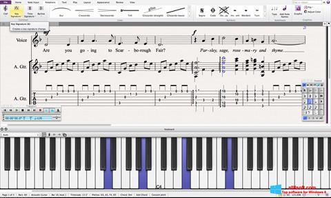 Snimak zaslona Sibelius Windows 8