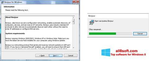 Snimak zaslona Bonjour Windows 8