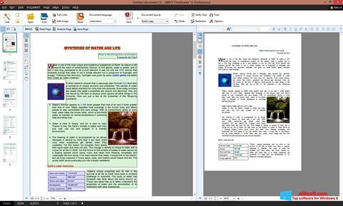 Snimak zaslona ABBYY FineReader Windows 8