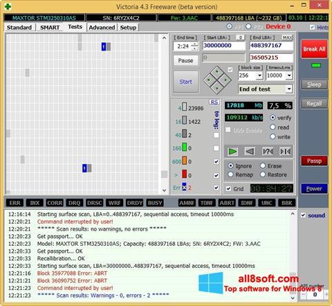 Snimak zaslona Victoria Windows 8