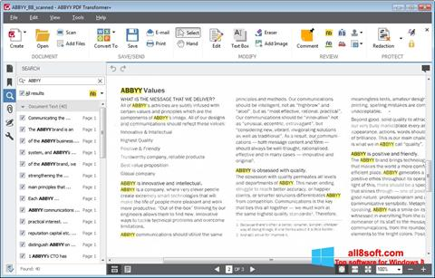 Snimak zaslona ABBYY PDF Transformer Windows 8