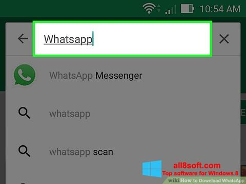 Snimak zaslona WhatsApp Windows 8