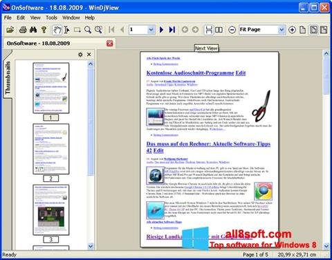 Snimak zaslona WinDjView Windows 8