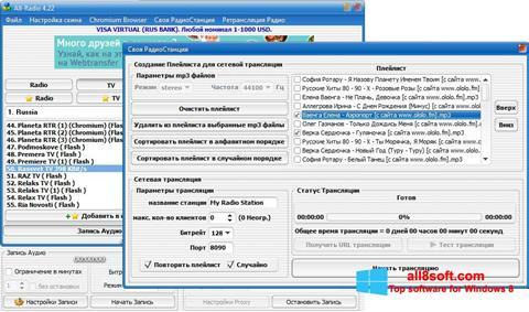 Snimak zaslona All-Radio Windows 8