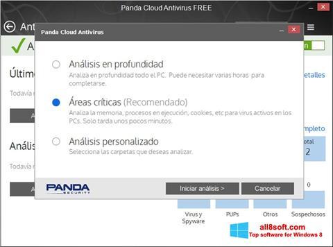 Snimak zaslona Panda Cloud Windows 8