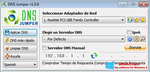 Snimak zaslona DNS Jumper Windows 8