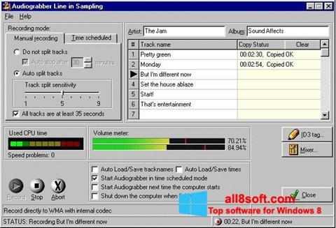 Snimak zaslona Audiograbber Windows 8