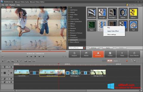 Snimak zaslona Movavi Video Suite Windows 8