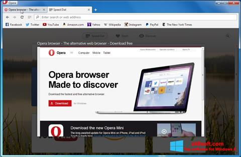 Snimak zaslona Opera Developer Windows 8