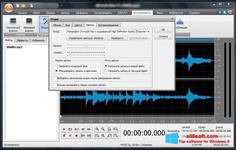 Snimak zaslona AVS Audio Editor Windows 8