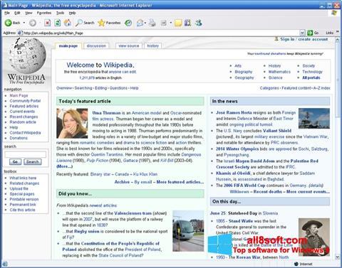 Snimak zaslona Internet Explorer Windows 8