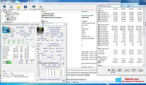 Snimak zaslona HWiNFO Windows 8
