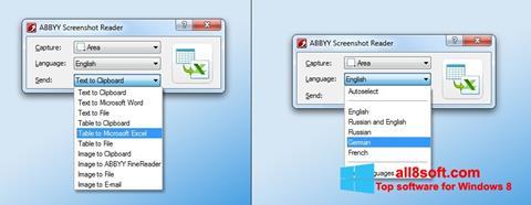 Snimak zaslona ABBYY Screenshot Reader Windows 8