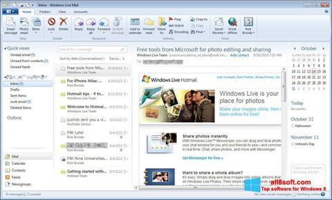 Snimak zaslona Windows Live Mail Windows 8