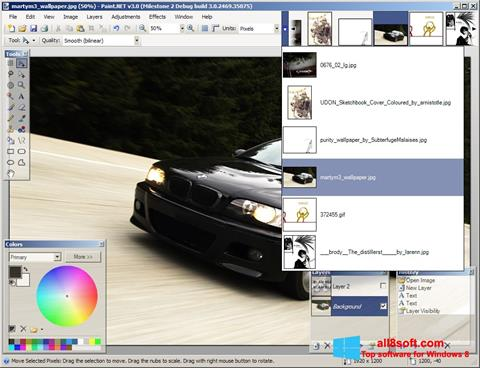 Snimak zaslona Paint.NET Windows 8
